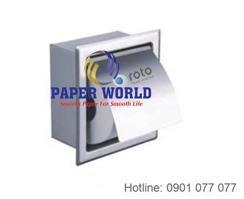 Hộp đựng giấy lau tay inox âm tường Roto0015 đơn